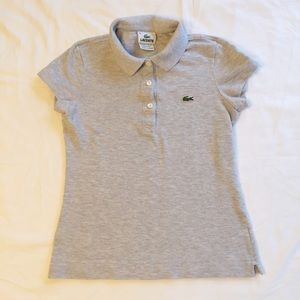 Lacoste Heather Gray Classic Polo Size 2
